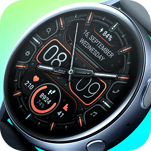 Matveyan – Minimal Steel. Classic and digital watch face. 8 Color options. Multilingual.