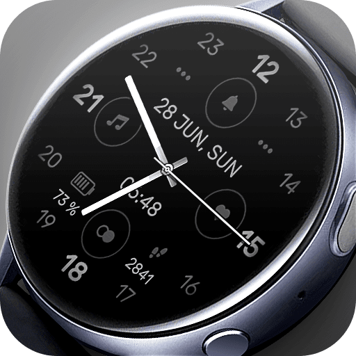 Matveyan – Monochrome Sport. Only time, date, step counter and battery. Dark design.