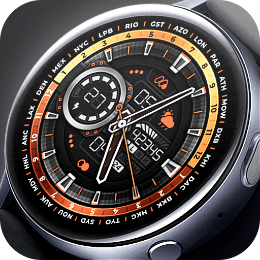 Matveyan – Super realistic analog watch face. 4 color options, world time, multilingual.
