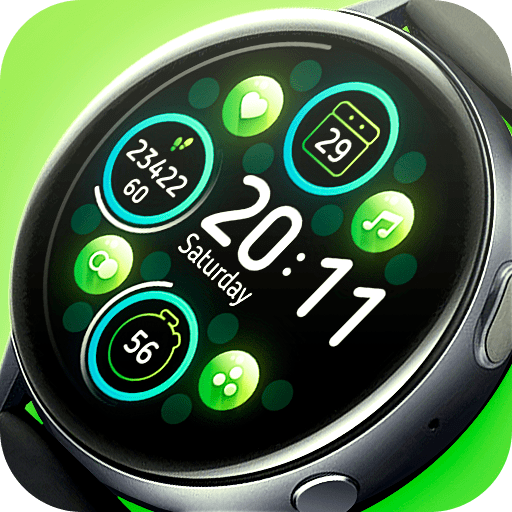 Matveyan – Application UI 2. Bright watch face. Support all languages.