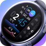 Watch faces for Samsung Watch – Gradient Weather
